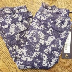 Tre Vero Scarf wrap.Blue Butterfly. NwT